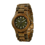WeWOOD Date Watch - Army Green