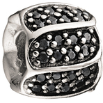 Chamilia Jeweled Petals Black CZ Bead
