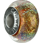 Chamilia Iridescent Collection Orange Spin Bead