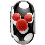 Chamilia Disney Murano Black & White Mickey Bead