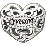 Chamilia Exclusive Limited Edition Filigree Mom Heart Bead