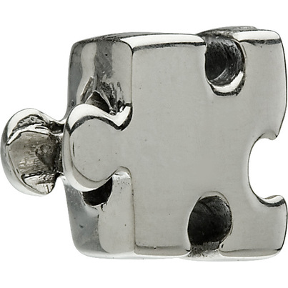 Authentic Chamilia Autism Puzzle Piece Sterling Silver Bead Charm GA