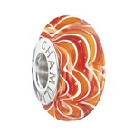 Chamilia 2015 Ltd Edition Sound Waves Murano Ring of Fire Bead
