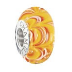 Chamilia 2015 Ltd Edition Sound Waves Murano Tequila Sunrise Bead