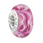 Chamilia 2015 Ltd Edition Sound Waves Murano Raspberry Beret Bead