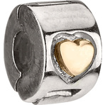 Chamilia Gold Heart - Mixed Gold Lock