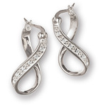 Chamilia CZ Infinity Earrings
