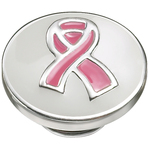 Kameleon Pink Ribbon White Enamel JewelPop