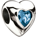 Miss Chamilia Heart - March Birthstone CZ Bead