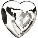 Miss Chamilia Heart - April Birthstone CZ Bead