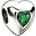 Miss Chamilia Heart - May Birthstone CZ Bead