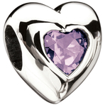 Miss Chamilia Heart - June Birthstone CZ Bead