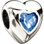 Miss Chamilia Heart - September Birthstone CZ Bead