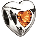 Miss Chamilia Heart - November Birthstone  CZ Bead
