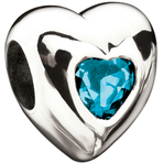 Miss Chamilia Heart - December Birthstone CZ Bead