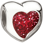 Miss Chamilia Glitter Heart - Red Bead