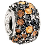 Chamilia Kaleidoscope Orange & Black Swarovski Bead