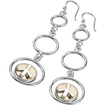 Kameleon Drop Hoop Earrings