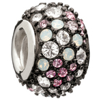 Chamilia Jeweled Kaleidoscope Pink & Black Swarovski Bead