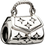 Chamilia Sparkle Purse Clear CZ Bead