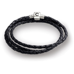 Chamilia Ebony Braided Leather Wrap Bracelet