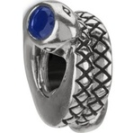 Chamilia Retired Snakes Dark Blue CZ Bead