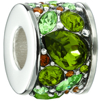 Chamilia Mosaic Verde Swarovski Bead - Siena Collection