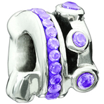 Miss Chamilia Cartwheel - Purple CZ Bead