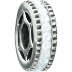 Miss Chamilia Bling Ring - White CZ Bead