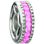 Miss Chamilia Bling Ring - Fuchsia CZ Bead