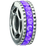 Miss Chamilia Bling Ring - Purple CZ Bead