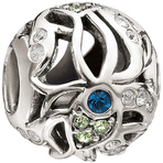 Chamilia Featherstone Blue & Green Swarovski Bead - Cabaret Collection