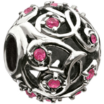 Chamilia Leaves & Vines Fuchsia Swarovski Bead - Cabaret Collection