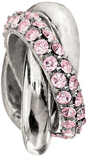 Chamilia Rings Light Rose Bead - Swarovski Collection