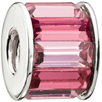 Chamilia Baguette Pink Bead - Swarovski Collection