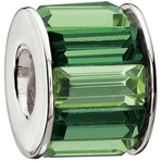Chamilia Baguette Green Bead - Swarovski Collection