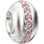 Chamilia Wink Light Rose Bead - Swarovski Collection
