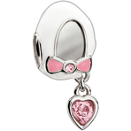 Chamilia Baby Shoe Light Rose Bead - Swarovski Collection