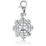 It's Charming Sterling Silver Snowflake Diamond Accent Charm
