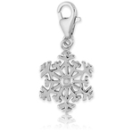 It's Charming Sterling Silver Intricate Snowflake with Diamond Accent Charm