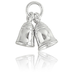 It's Charming Sterling Silver Double Bell Charm