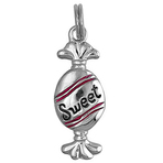 It's Charming Sterling Silver Red Candy Wrapper Charm