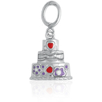 It's Charming Sterling Silver 3-Tier Wedding Cake Charm