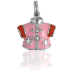 It's Charming Sterling Silver Pink and Red Jacket Charm
