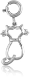 It's Charming Sterling Silver Cat Outline Charm