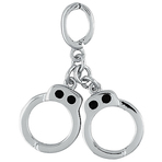 It's Charming Sterling Silver Handcuff Charm