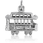 It's Charming Sterling Silver Cable Car Charm