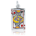 It's Charming Sterling Silver King of Diamonds Playing Card Charm
