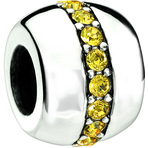 Chamilia Cosmo Yellow Swarovski Bead - Soho Collection