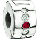Chamilia Jeweled Lock Fuchsia Swarovski - Soho Collection